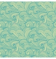 Light green hand-drawn pattern waves background vector image vector image