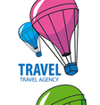 logo balloon flying Travel vector image vector image