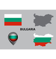 Map of Bulgaria and symbol vector image vector image