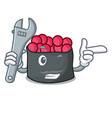 mechanic ikura mascot cartoon style vector image vector image