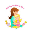 mom and daughter embracemother day background vector image