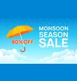 monsoon sale offer rain season background rainy vector image