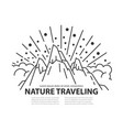 nature line template vector image vector image