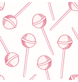 Oitline sketches candies seamless pattern vector image