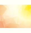 pastel pink yellow triangular background vector image