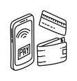 payment methods icon doodle hand drawn or outline vector image