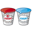 plastic container for yogurt vector image