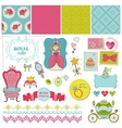 Princess Girl Set vector image vector image