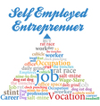 Self employed entrepreneur job occupation vector image