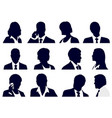 set business people silhouettes vector image vector image