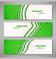 Set of three banners vector image vector image