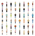 set people flat icons vector image