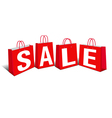 Shopping Bag SALE Bags vector image vector image