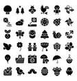 spring season set solid icon vector image vector image