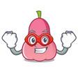 super hero rose apple character cartoon vector image vector image
