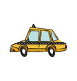 taxi car transport public travel urban vector image vector image