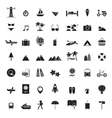 travel icons all set vector image