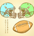 US Helmet Ball vector image