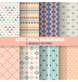 Vintage Aztec Tribal Backgrounds vector image
