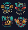 vintage tattoo studio colorful prints vector image vector image