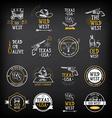 Wild west badges design Vintage western elements vector image
