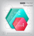 3d hexagon plastic glossy element for infographic vector image