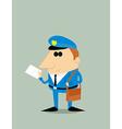 Cartoon postman vector image