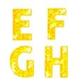 Diamond letters E F G H vector image