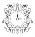 old vintage clock on white background vector image
