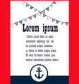 set of nautical brochures in vintage style vector image
