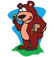 Bear Eating Honey vector image