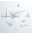 modern origami airplane background vector image