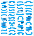 a collection various blue ribbons vector image
