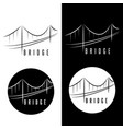 abstract bridge construction set design template vector image