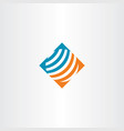 abstract globe logo symbol vector image