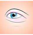 Abstract Human Blue Eye vector image vector image