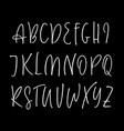 ballpen handwritten alphabet vector image vector image