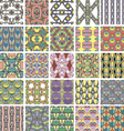 Big set of abstract retro style seamless patterns vector image vector image