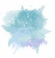 Blue watercolor stain on white background vector image vector image