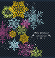 blue winter abstract christmas background vector image vector image