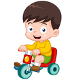boy on a bicycle vector image vector image