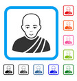 buddhist monk framed gladness icon vector image vector image