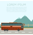 Bus trip banner vector image