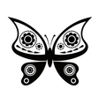 butterfly isolated on white vector image vector image