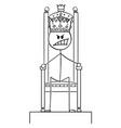 cartoon angry man or king sitting on royal