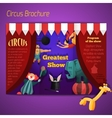 Circus performance brochure vector image vector image