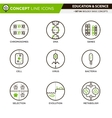 Concept Line Icons Set 4 Biology vector image vector image