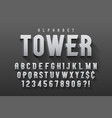 condensed original display font design vector image