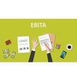Counting EBITA Earnings Before Interest Taxes vector image