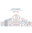 cryptocurrency - line design style vector image vector image